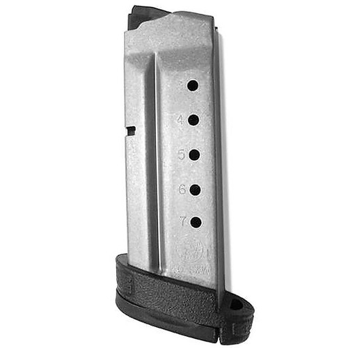 Smith & Wesson 199340000 M&P Shield 40 S&W 7 Round Aluminum Silver Finish Magazine