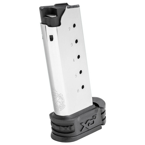 Springfield Armory XDS5006 XD-S 45 ACP 6 Round Stainless Steel Finish Magazine