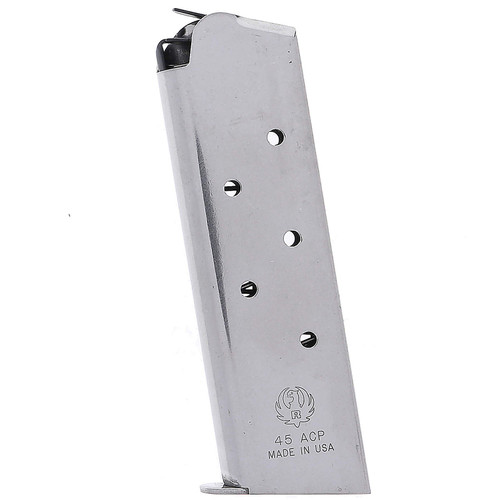 Ruger 90366 SR1911 45 ACP 7 Round Stainless Steel Finish Magazine