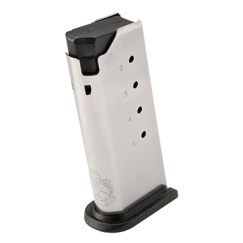 Springfield Armory XDS5005 XD-S 45 ACP 5 rd Flat Base Stainless Steel Magazine