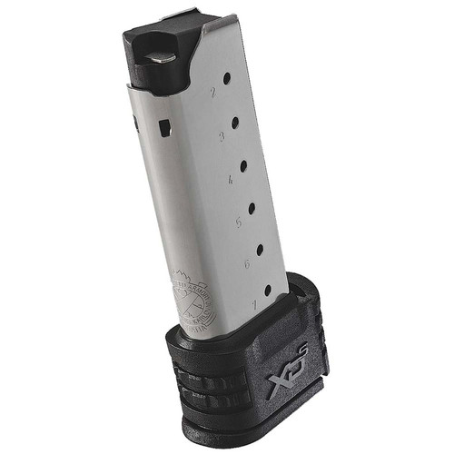 Springfield Armory XDS50071 XD-S Magazine with X-Tension for Backstraps 1 & 2 7 Round Silver Steel Magazine