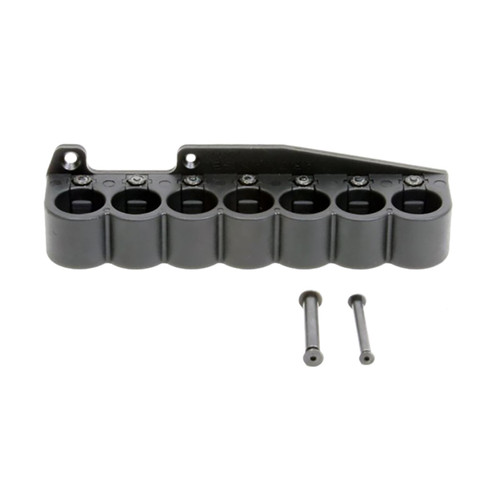 ProMag AA112 Archangel Shell Carrier 7rd Black Polymer with Aluminum Mounting Plate for 12 Gauge Remington 870 Magazine