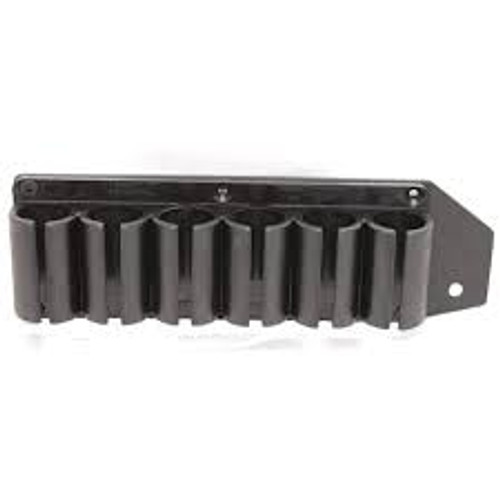 TacStar 1081159 6 Shot SideSaddle 12 Gauge Mossberg 500/590 Black Polymer with Aluminum Plating Magazine