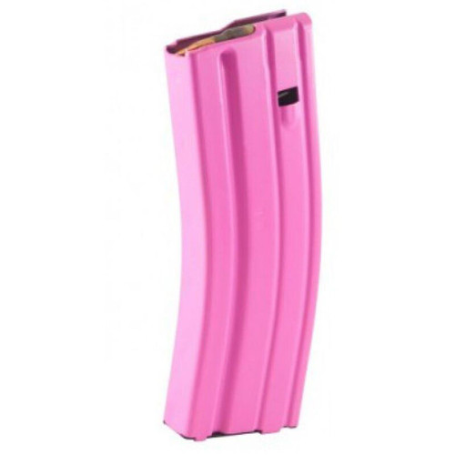 C Products Defense AR-15 5.56 NATO Magazine 30 Rounds Aluminum Construction Pink Finish