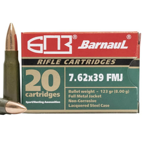 Barnaul Brown Bear AB762FMJ 7.62X39 123 GR FMJ 20 Rounds