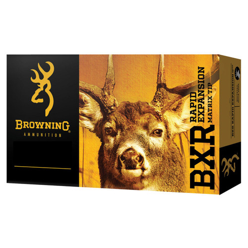 Browning Ammo B192100651 BXR 6.5 Creedmoor 129 gr Matrix Tip 20 Bx/ 10 Cs