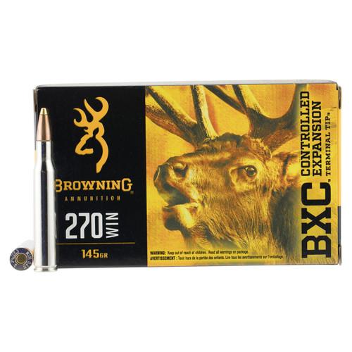 Browning Ammo B192202701 BXC 270 Win 145 gr Terminal Tip 20 Bx/ 10 Cs