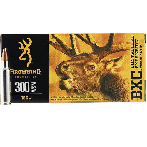 Browning Ammo B192230001 BXC 300 WSM 185 GR Terminal Tip 20 Bx/ 10 Cs