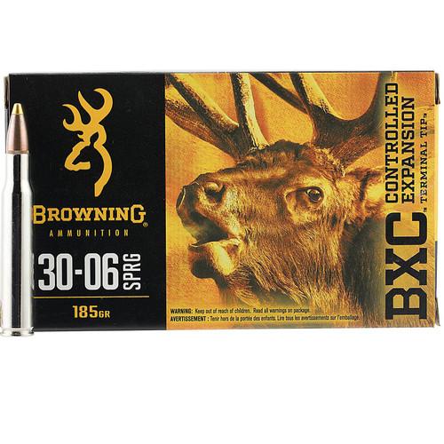 Browning Ammo B192230061 BXC 30-06 Springfield 185 gr Terminal Tip 20 Bx/ 10 Cs
