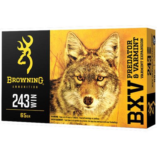 Browning Ammo B192302431 BXV 243 Win 65 gr Polymer Tip 20 Bx/ 10 Cs