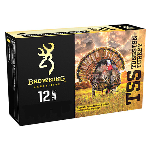 "Browning Ammo B193921237 TSS Tungsten 12 Gauge 3"" 1 3/4 oz 7 Shot 5 Bx/ 10 Cs"
