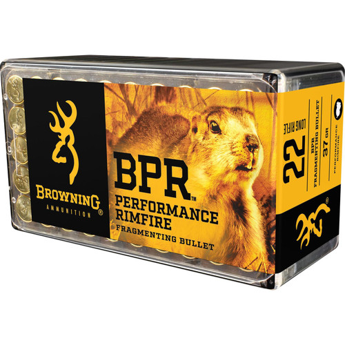 Browning BPR Performance Rimfire Ammunition B194122050 22 LR Fragmented Hollow Point (FHP) 37 GR 1400 fps 50 Rd/bx