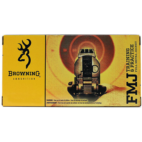 Browning Training & Practice Pistol Ammunition B191800452 45 ACP FMJ 185 GR 910 fps 50 Rd/bx