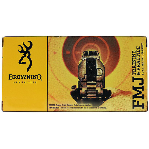 Browning Training & Practice Pistol Ammunition B191803802 380 ACP FMJ 95 GR 955 fps 50 Rd/bx