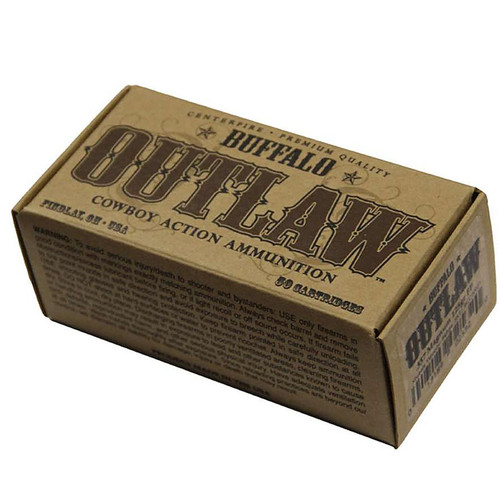 Buffalo Cartridge Outlaw 357 Magnum 125 GR Lead Round Nose Flat Point 50 Bx/ 20 Cs