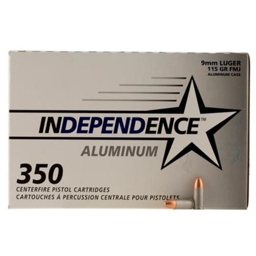 CCI Independence 9mm115gr Full Metal Jacket Non-reloadable 350rd/Box