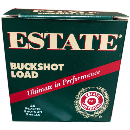 "Estate Ammunition 12 Gauge 2-3/4"" 00 Buckshot 9 Pellets"