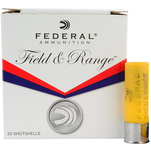 "Federal 12 Gauge Field and Range 2-3/4"", 1 oz., 7.5 Shot, 25/Box"