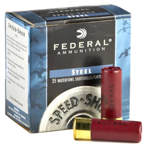 "FEDERAL 12GA 3""1.25OZ #3 SPEED-SHOK HEAVY HIGH VELOCITY STEEL SHOTSHELLS 25RDS - WF140 3"