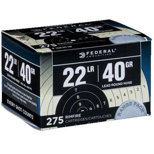 Federal 729 Range & Field 22 LR 40 gr Lead Round Nose (LRN) 275 Bx/ 10 Cs (Bulk)