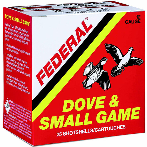 "Federal Game Load 12ga 2-3/4"" Dove and Small Game Shotshells"
