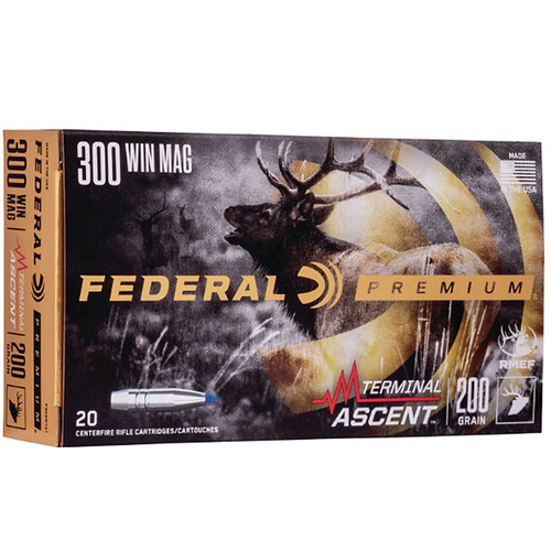 Federal P300WTA1 Premium 300 Win Mag 200 gr Terminal Ascent 20 Bx/ 10 Cs