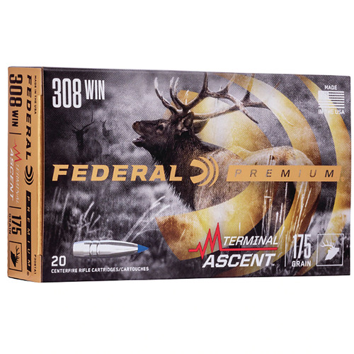 Federal P308TA1 Premium 308 Win 175 gr Terminal Ascent 20 Bx/ 10 Cs