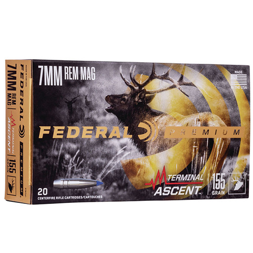 Federal P7RTA1 Premium 7mm Rem Mag 155 gr Terminal Ascent 20 Bx/ 10 Cs