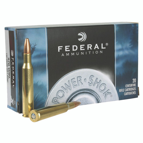 Federal Power-Shok Ammunition 270 Winchester 130 Grain Soft Point Box of 20