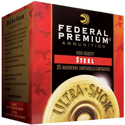"Federal Premium High Velocity Steel Ultra Shok Waterfowl 12 Gauge 3"" 1 1/4oz 1450FPS"