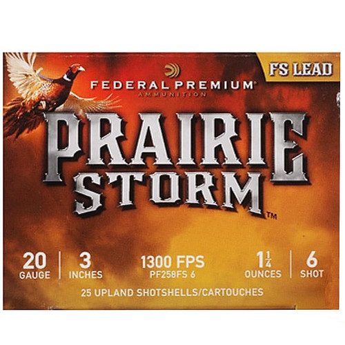 Federal Premium Prairie Storm Ammunition 20 Gauge Plated Shot