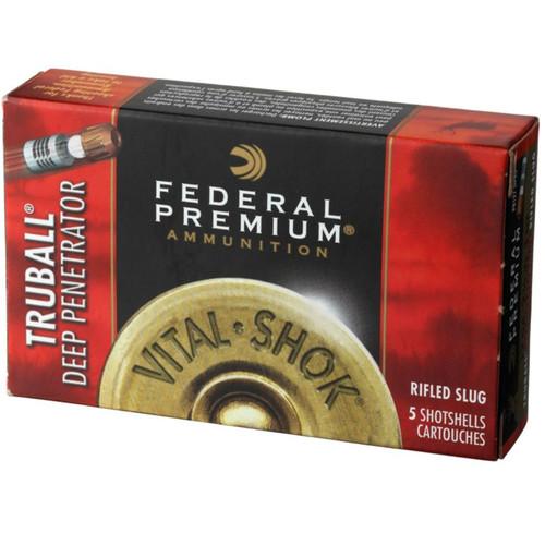 "Federal Premium Vital-Shok Ammunition 12 Gauge 2-3/4"" 1 oz Deep Penetrator TruBall Hollow Point Rifled Slug"