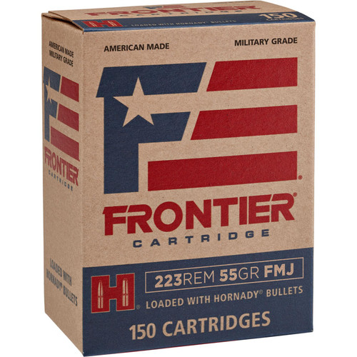 Frontier Cartridge FR1015 Rifle 223 Rem 55 gr Full Metal Jacket (FMJ) 150 Bx/ 8 Cs
