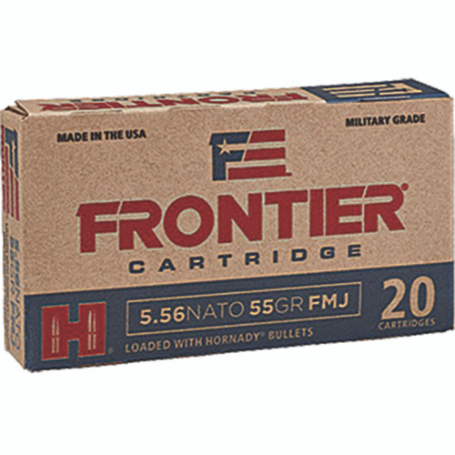 Frontier Cartridge FR200 Rifle 5.56 NATO 55 gr Full Metal Jacket (FMJ) 20 Bx/ 25 Cs