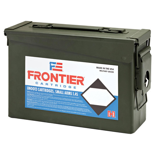 Frontier Cartridge Military Grade Ammunition 5.56x45mm NATO 55 Grain XM193 Hornady Full Metal Jacket Boat Tail Ammo Can of 500