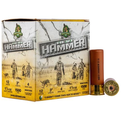 """Hevishot 28004 Hevi-Hammer 12 Gauge 3"""" 1 1/4 oz 4 Shot 25 Bx/ 10 Cs"""