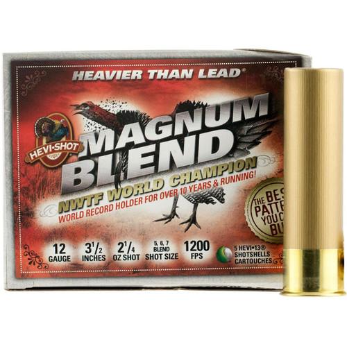 "Hevishot 41205 Magnum Blend Turkey 12 Gauge 3.5"" 2 1/4 oz 5,6,7 Shot 5 Bx/ 10 Cs"