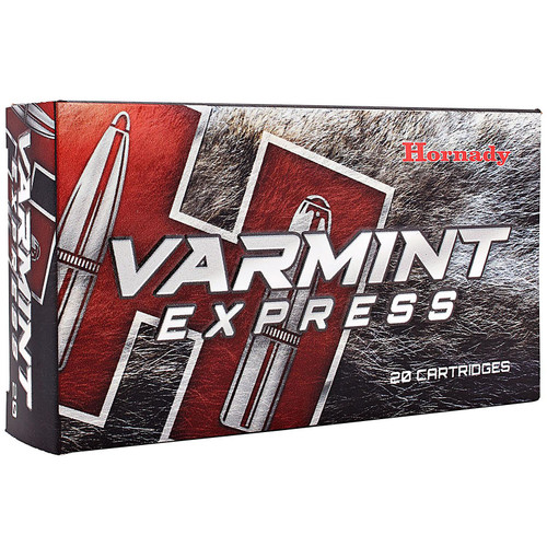 Hornady 8337 Varmint Express 22-250 Rem 55 gr V-Max 20 Bx/ 10 Cs