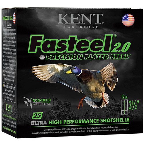 "Kent Cartridge K1235FS422 Fasteel 2.0 12 Gauge 3.5"" 1-1/2 oz 2 Shot 25 Bx/ 10 Cs"