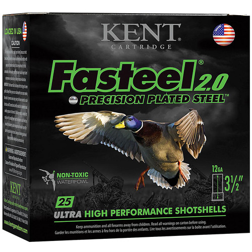 "Kent Cartridge K1235FS42BB Fasteel 2.0 12 Gauge 3.5"" 1-1/2 oz BB Shot 25 Bx/ 10 Cs"