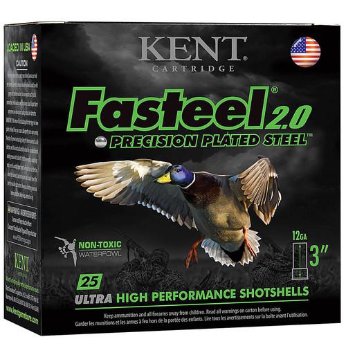 "Kent Cartridge K123FS40BB Fasteel 2.0 12 Gauge 3"" 1-3/8 oz BB Shot 25 Bx/ 10 Cs"