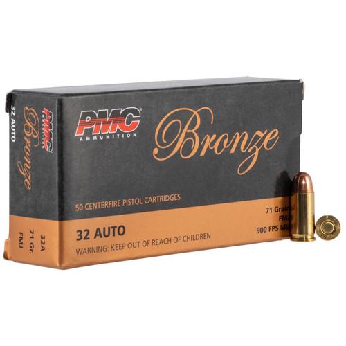 PMC 32A Bronze 32 ACP 71 gr Full Metal Jacket (FMJ) 50 Bx/ 20 Cs