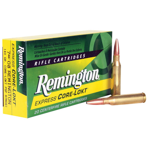 Remington Ammunition R7M081 Core-Lokt 7mm-08 Rem 140 gr Core-Lokt Pointed Soft Point (PSPCL) 20 Bx/ 10 Cs