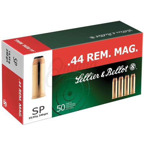 Sellier & Bellot SB44A Handgun 44 Rem Mag 240 gr Soft Point (SP) 50 Bx/ 12 Cs