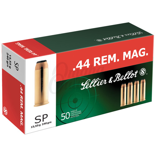 Sellier & Bellot SB44A Handgun 44 Rem Mag 240 gr Soft Point (SP) 50 Bx/ 12 Cs
