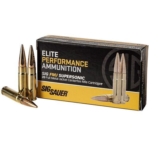 Sig Sauer E300B120 Elite Performance 300 Blackout 125 gr Full Metal Jacket (FMJ) 20 Bx/ 25 Cs