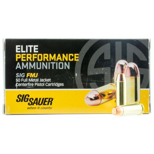 Sig Sauer E38SB150 Elite Ball 38 Special 125 gr Full Metal Jacket (FMJ) 50 Bx/ 20 Cs