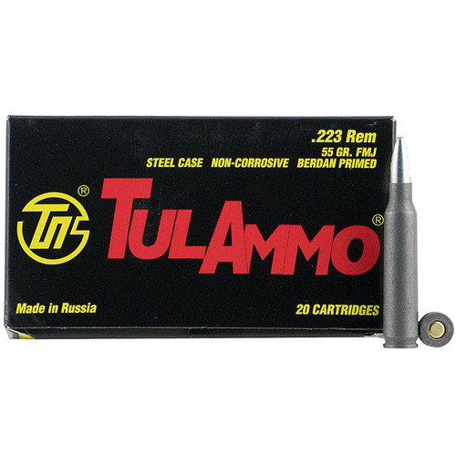 Tulammo TA223550 Rifle 223 Rem 55 gr Full Metal Jacket (FMJ) 20 Bx/ 50 Cs