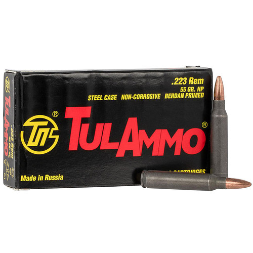 Tulammo TA223552 Rifle 223 Rem 55 gr Hollow Point (HP) 20 Bx/ 50 Cs