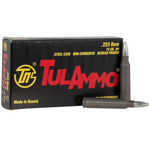 Tulammo TA223675 Rifle 223 Rem 75 gr Hollow Point (HP) 20 Bx/ 50 Cs